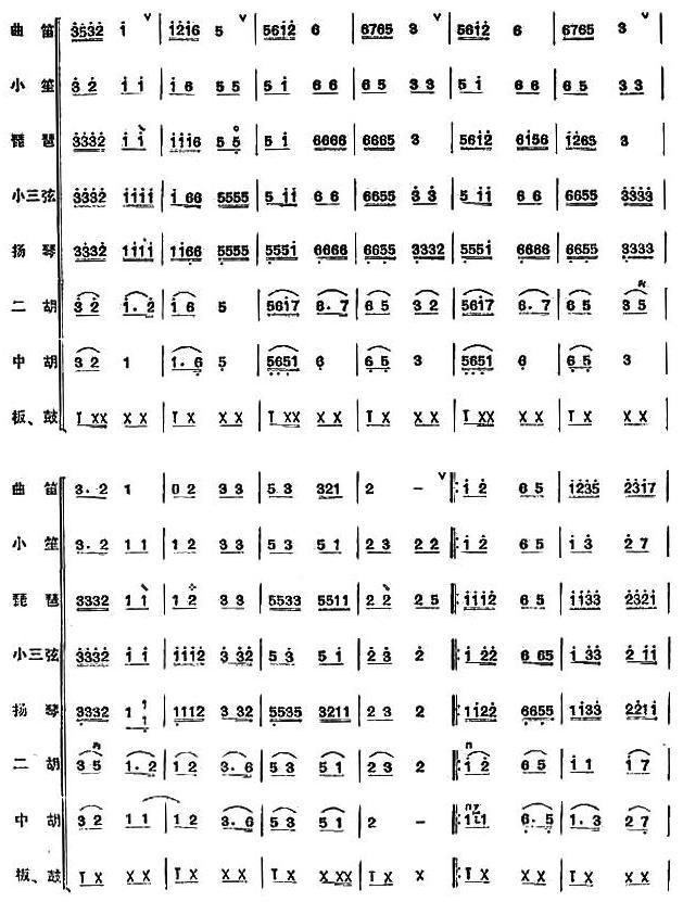 欢乐歌民乐合奏总谱