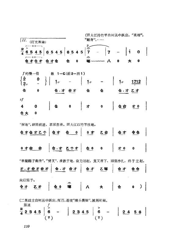 革命现代京剧 杜鹃山 主旋律乐谱(101-150)
